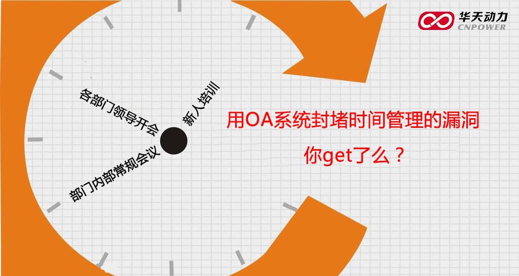 华天动力OA:用OA系统封堵时间管理的漏洞,你get到了么?