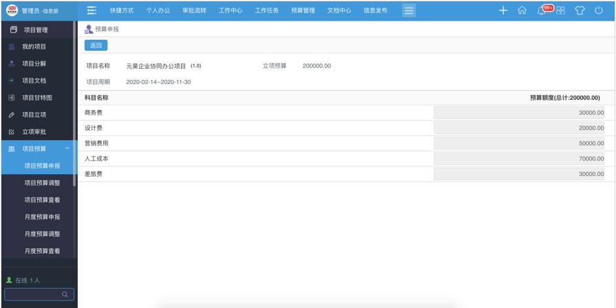 华天动力OA项目管理平台实现项目全过程管控